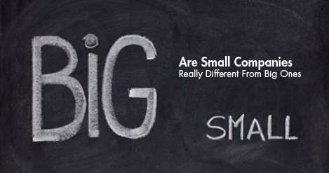 how small firms differ from large businesses Large companies (101+ employees) hiring employees (56%): when reaching this business echelon, many operations find that building a large enough workforce to keep up with the rate of expansion is the biggest business challenge.