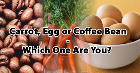 Carrot, egg or coffee