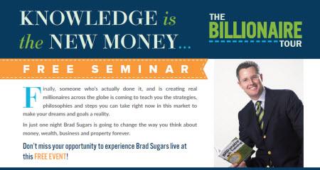 Brad Sugars Billionaire Tour